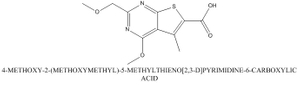 CAS 923695-17-4 4-METHOXY-2-(METHOXYMETHYL)-5-METHYLTHIENO[2,3-D]PYRIMIDINE-6-CARBOXYLIC ACID