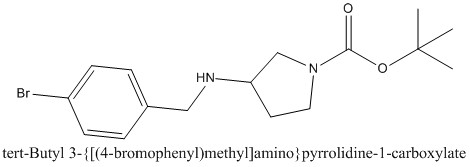 CAS 1260810-70-5 tert-Butyl 3-{[(4-bromophenyl)methyl]amino}pyrrolidine-1-carboxylate
