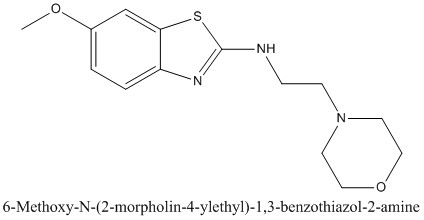 CAS 1105189-20-5 6-Methoxy-N-(2-morpholin-4-ylethyl)-1,3-benzothiazol-2-amine