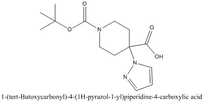 CAS 1159835-39-8 1-(tert-Butoxycarbonyl)-4-(1H-pyrazol-1-yl)piperidine-4-carboxylic acid