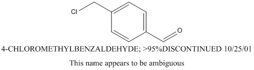 CAS 73291-09-5 4-CHLOROMETHYLBENZALDEHYDE; >95%DISCONTINUED 10/25/01