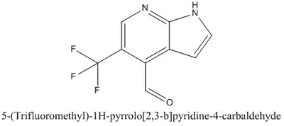 CAS 1261365-68-7 5-(Trifluoromethyl)-1H-pyrrolo[2,3-b]pyridine-4-carbaldehyde