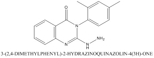 CAS 77066-13-8 3-(2,4-DIMETHYLPHENYL)-2-HYDRAZINOQUINAZOLIN-4(3H)-ONE