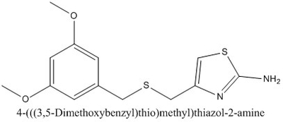 CAS 1019111-59-1 4-(((3,5-Dimethoxybenzyl)thio)methyl)thiazol-2-amine