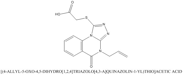 CAS 742094-79-7 [(4-ALLYL-5-OXO-4,5-DIHYDRO[1,2,4]TRIAZOLO[4,3-A]QUINAZOLIN-1-YL)THIO]ACETIC ACID